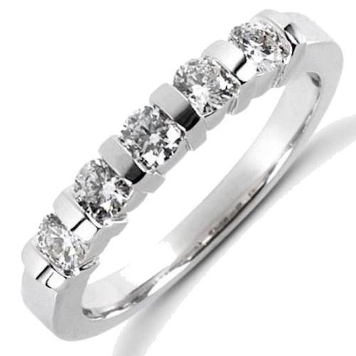 0.50 Ct Tw 5 stone diamond anniversary ring