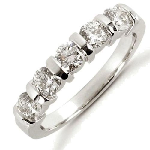 1.0 Ct Tw 5 stone diamond anniversary ring