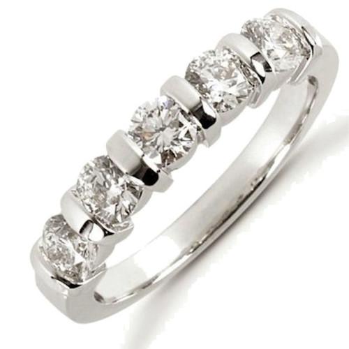 1.0 Ct Tw 5 stone diamond anniversary ring