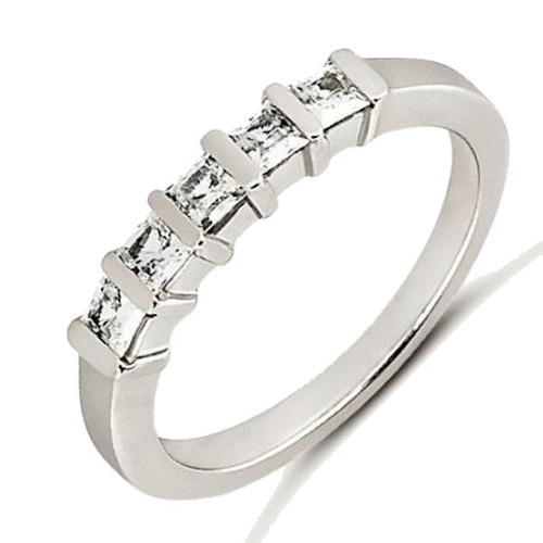 white gold princess cut anniversary ring