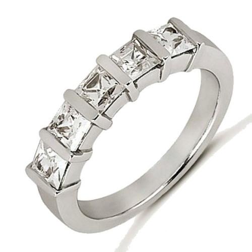 white gold princess cut anniversary ring