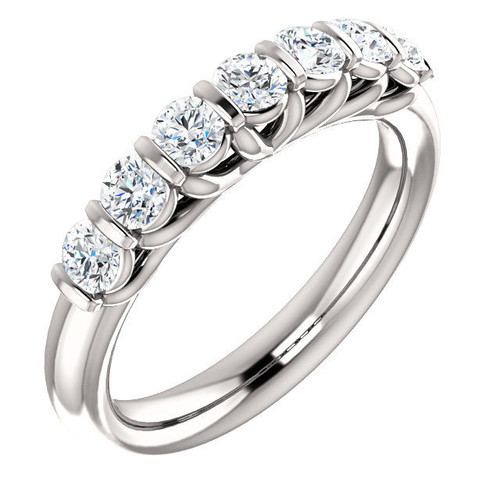 White Gold 7-Stone Diamond Anniversary Ring