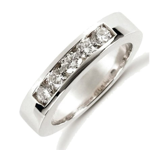 White Gold Channel Set Diamond Anniversary Ring