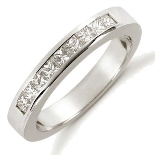 White Gold Princess Cut Diamond Anniversary Ring