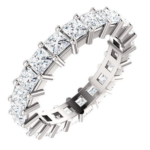 White Gold Princess Cut Eternity Ring