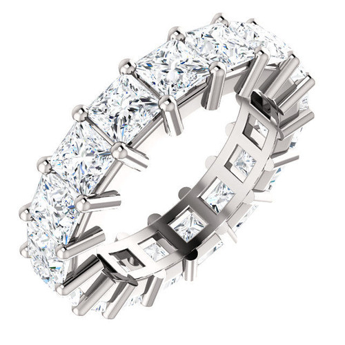Platinum 6.5 ct tw Princess Cut Eternity Ring
