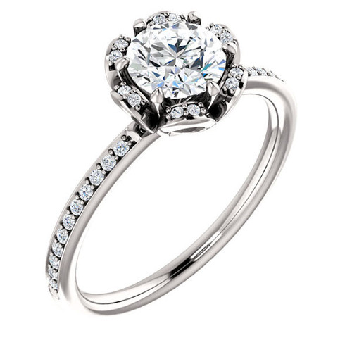 Floral Style Engagement Ring