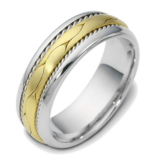 Two-Tone Braided Wedding Ring