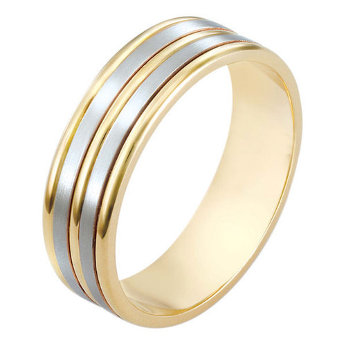 Two-tone Classic Wedding Band
