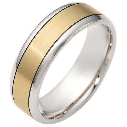 14Kt Two-Tone Classic Wedding Band