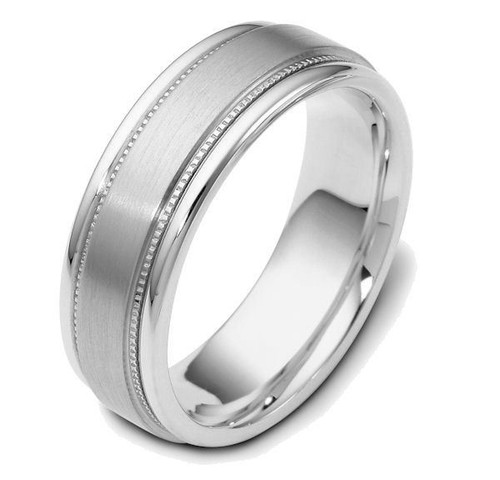 14Kt White Gold Classic Wedding Band