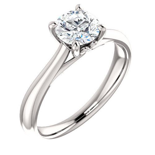 White Gold Round Solitaire Engagement Ring