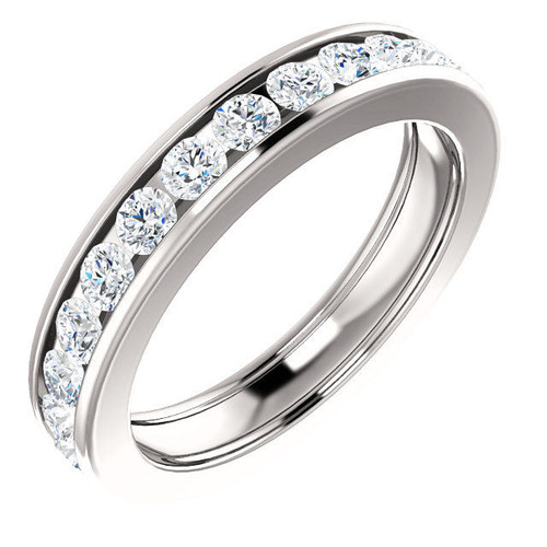 Platinum 1.5 CT TW Channel Set Diamond Eternity Ring