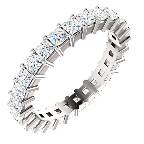 White Gold Prong Set Diamond Eternity Ring