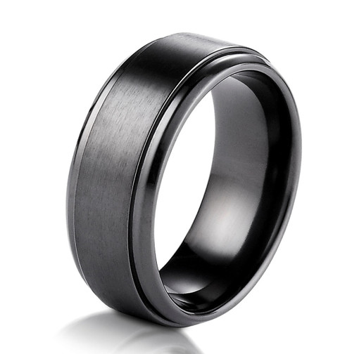 Black Titanium Classic Wedding Ring