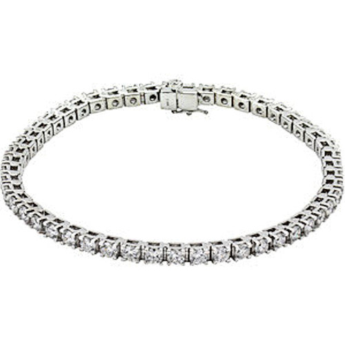 14Kt White Gold 5.0 ct tw Diamond Tennis Bracelet