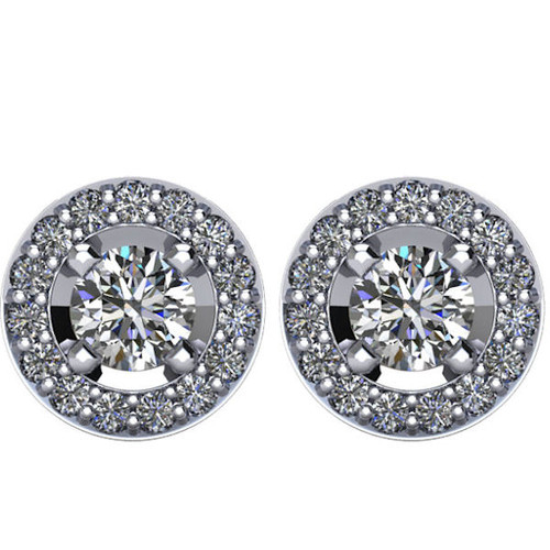 Halo, 1.0 CT TW Diamond Stud Earrings