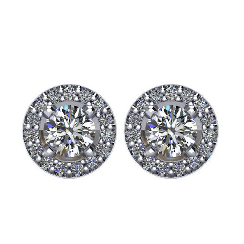 Halo, 5/8 CT TW Diamond Stud Earrings
