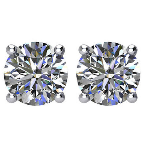 1.0 CT TW Round Diamond Stud Earrings