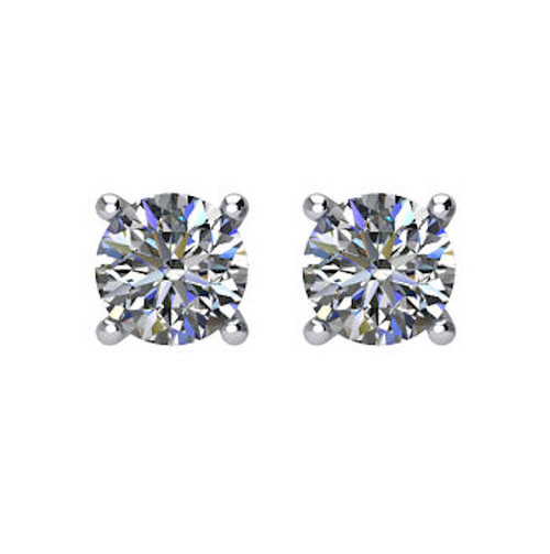 1/3 CT TW Round Diamond Stud Earrings