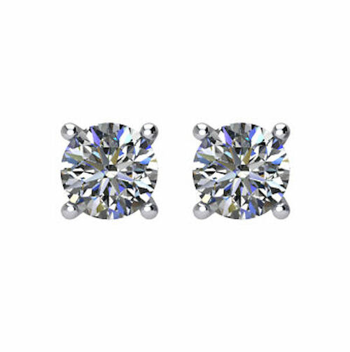 1/5 CT TW Round Diamond Stud Earrings