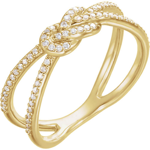 Yellow Gold Diamond Knot Ring