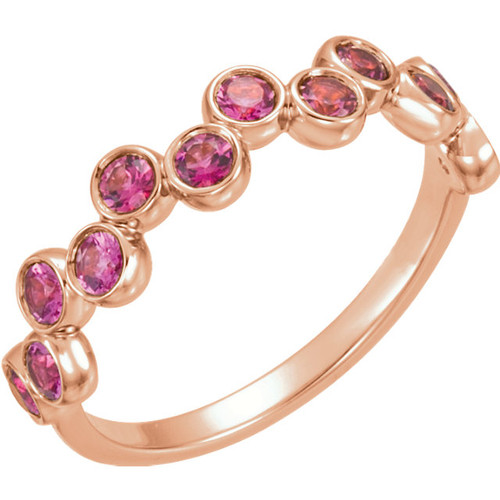 Rose Gold Pink Tourmaline Ring
