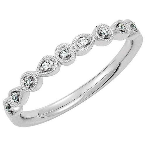 White Gold Diamond Stackable Ring