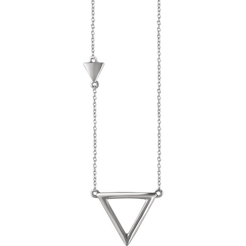 White Gold Triangle Necklace