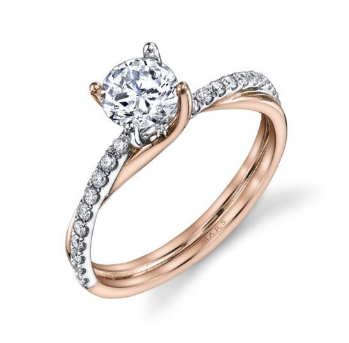 Interwoven Diamond Engagement Ring