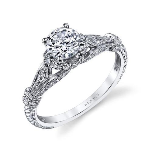Vintage 0.25 Ct Tw Diamond Engagement Ring
