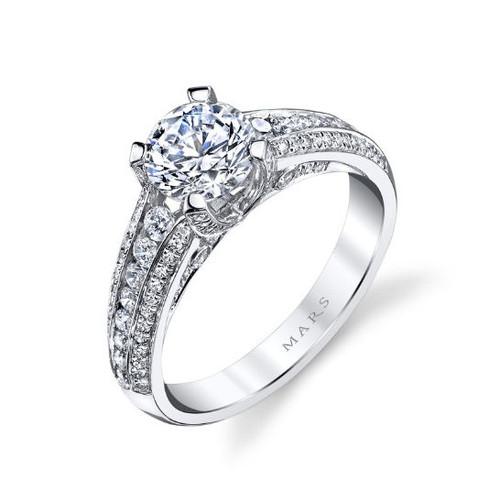 0.59 Ct Tw Diamond Engagement Ring