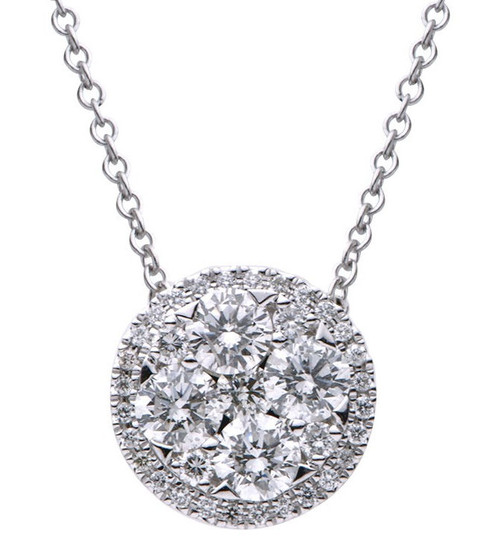 1.03 Ct Tw Diamond Ball Pendant