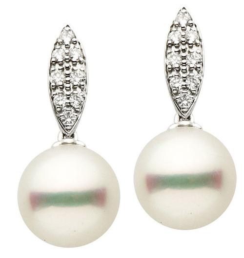 South Sea Cultured Pearls & Diamond Earrings