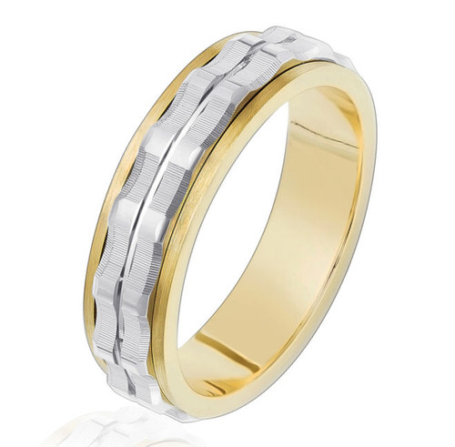 Two Tone Men's Wedding Band