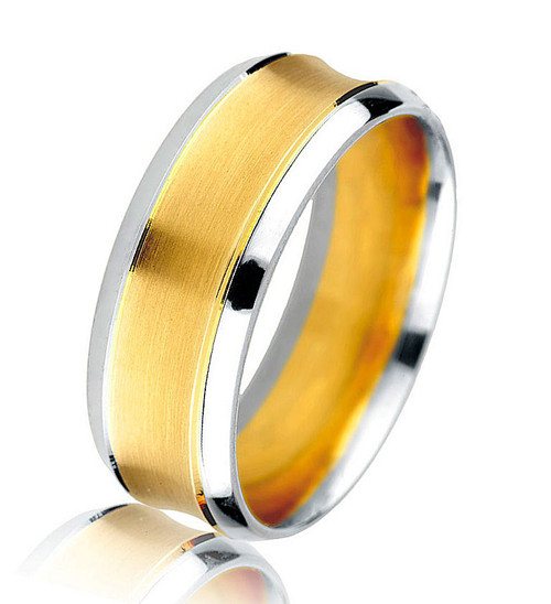 Two Tone Classic Wedding Band