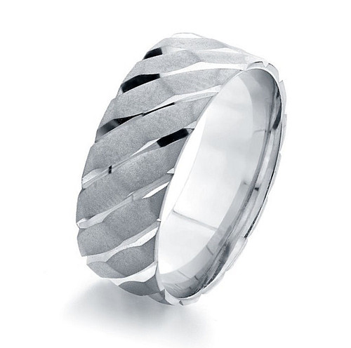 Traction White Gold Wedding Band