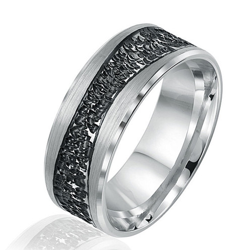 Black Rhodium White Gold Band