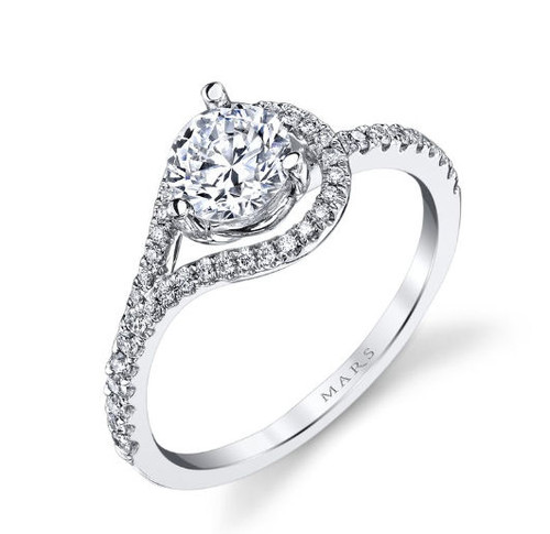 Asymmetric Infinity Diamond Engagement Ring