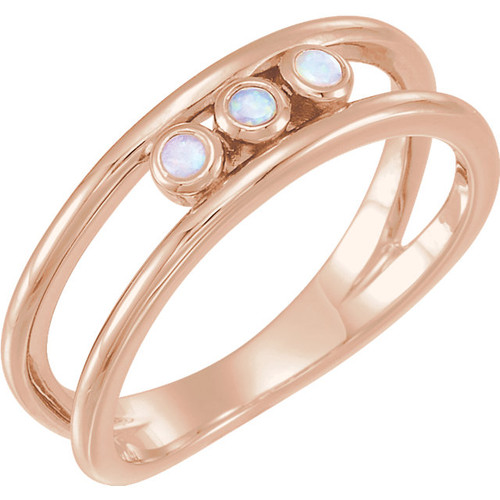 Three Stone Opal Ring
