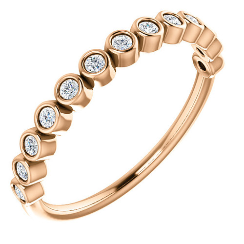 Rose Gold Bezel Anniversary Ring