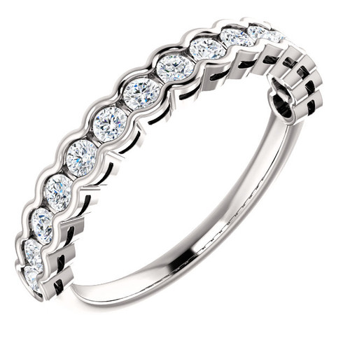 White Gold Round Diamond Anniversary Ring