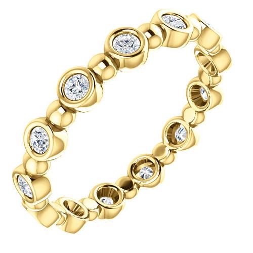 Yellow Gold Round Diamond Eternity Ring
