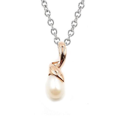 Rose Gold Freshwater Pearl Pendant