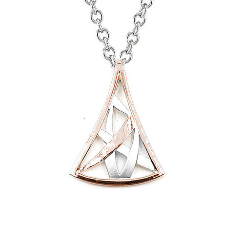 Silver & Rose Gold Silver Necklace