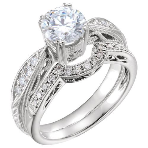 Diamond Vintage Bridal Set