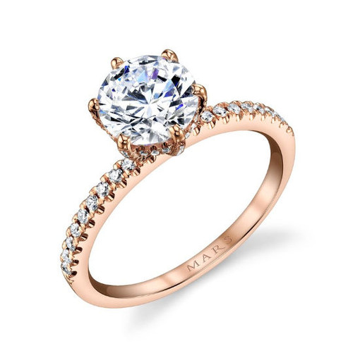 Rose Gold Diamond Accent Ring
