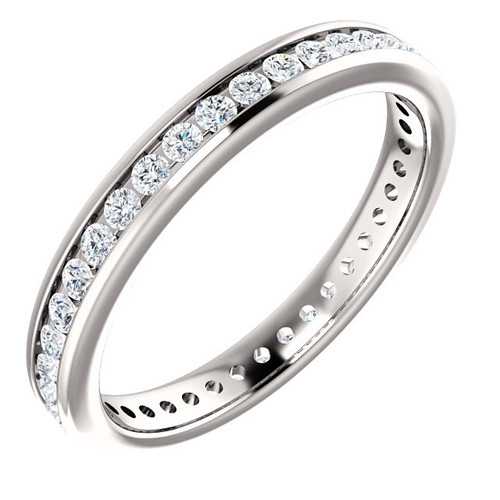 Platinum Diamond Anniversary Ring