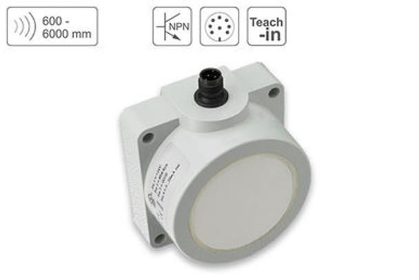 P43 Ultrasonic Sensor P43-600-Q50-PBT-2N-CM12