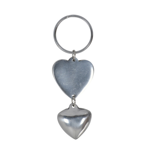 KEY RING DOUBLE HEART